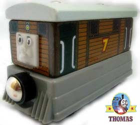 Tramways Toy wooden railways take along Thomas Tank Toby the tram engine and the stout gentleman