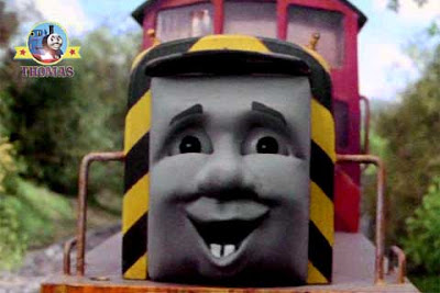 Tank engine salty the dockyard diesel arrived at his new job in the Sodor mountain mine quarry