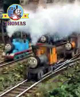 Misty island rescue Thomas the tank engine is delighted to meet this new friend the Logging Locos