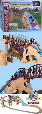 Toy Thomas the Tank Engine Action Canyon TrackMaster Set model railway layouts with rocky high hills