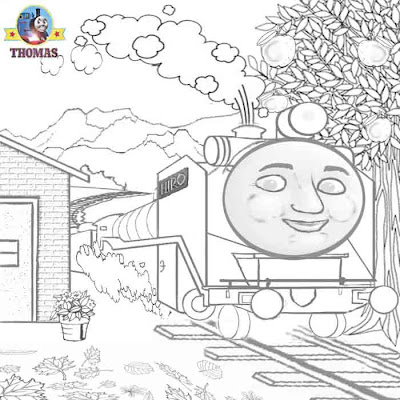 Thomas the tank engine coloring pages for kids Thomas and friends Hiro the train Japanese patchwork