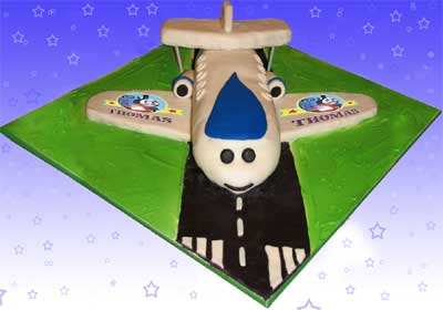 Thomas Tank Birthday Cake Ideas with Jeremy the jet plane straightforward design traditional recipe