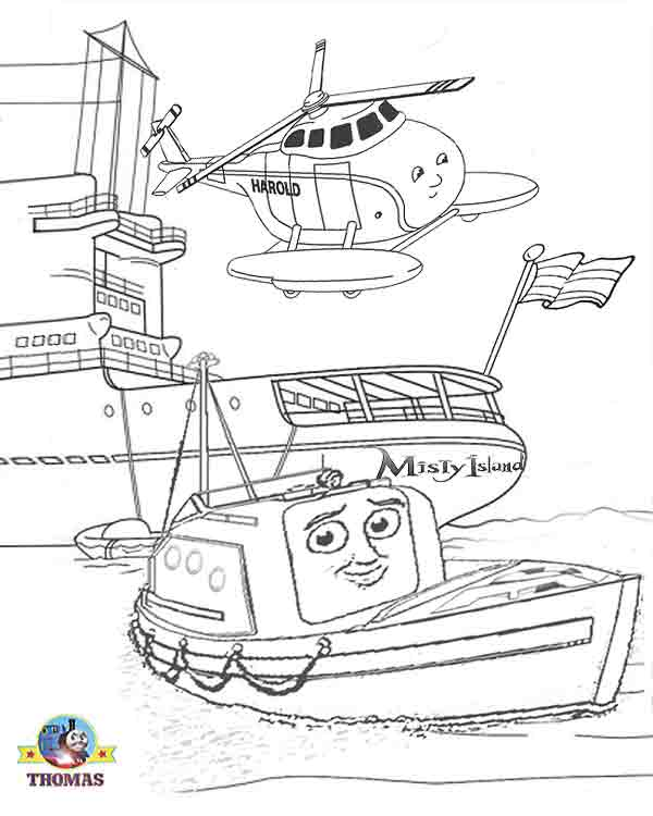 thomas the tank engine coloring pages - thomas and friends misty island rescue coloring pages for
