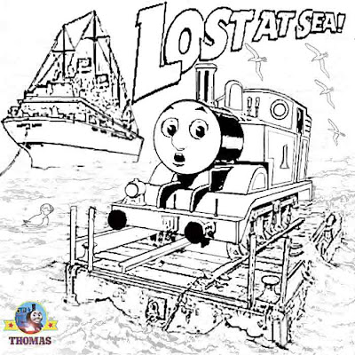 Free artwork lost at sea Misty Island rescue Thomas the train coloring pages kindergarten printables