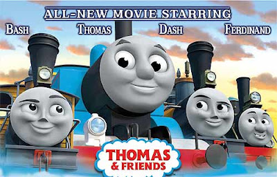 Kids 2010 Thomas the tank engine misty island rescue DVD movie with humorous Bash and Dash trains