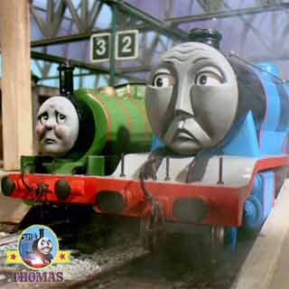High speed railway steam train Thomas and friends Gordon the big engine with Percy and the dragon