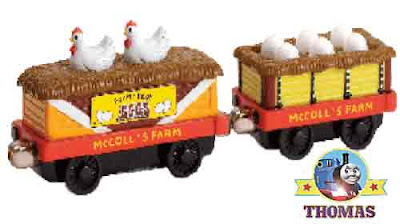 Take Along toy Thomas train cart McColl Farm Chicken Cars musical magical melody Sodor Chicken house
