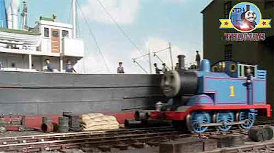 Fat Controller said Thomas go to the seaside docks pickup a new jet engine for the Sodor airfield