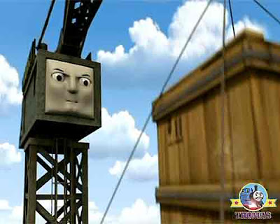 See Brendam docks situation of Thomas and friends Cranky the crane bugs said splendid engine James