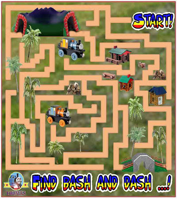 Thomas and friends bash and dash engines early education easy maze game puzzle preschool activity