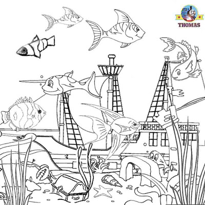 Ocean sea life aquarium tropical fish coloring book pages for children educational drawing pictures