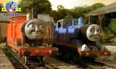 Thomas the tank engine and James and the trouble with trees chatting about Percy Terence the tractor