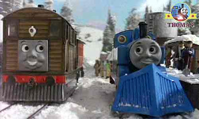Thomas and friends Toby the train tram engine with Henrietta coach hot drinks and childrens cakes