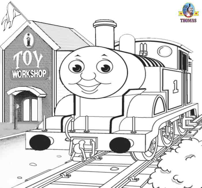 sodor steam train thomas and the toy workshop printable coloring pages for kids fun art activities - Fun Coloring Pages Printable