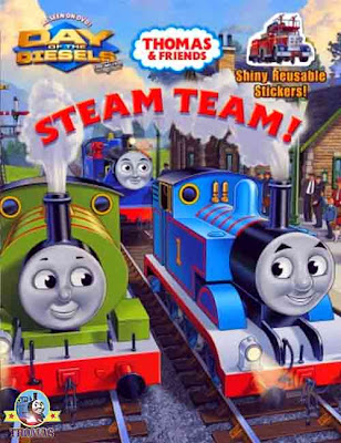 Thomas and friends Steam Team full color activity book for kids based on the new DVD Thomas movie
