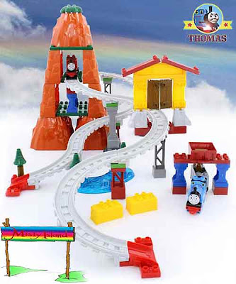 Toy railway Mega Bloks Thomas Adventures on Misty Island set Themed on DVD Misty Island Rescue movie