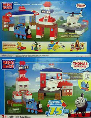 Thomas the tank engine Mega Bloks Thomas Sodor Search and Rescue center Harold the helicopter toy
