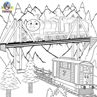old tram Toby Thomas the tank engine James the train and friends coloring pages online free for kids
