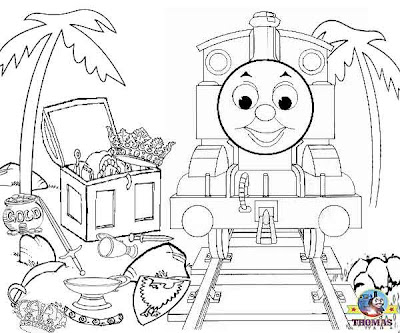 steam train saddler tank engine Thomas and the treasure coloring pages online free for kids to print