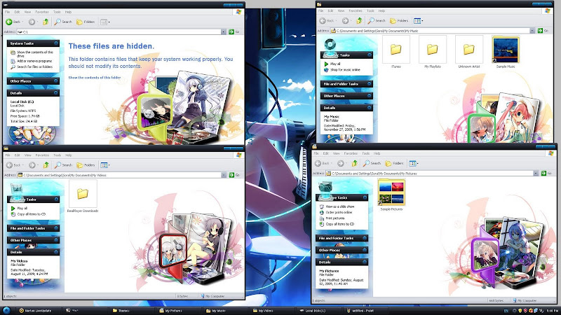 Anime Windows XP Themes Musicgirl+-+01