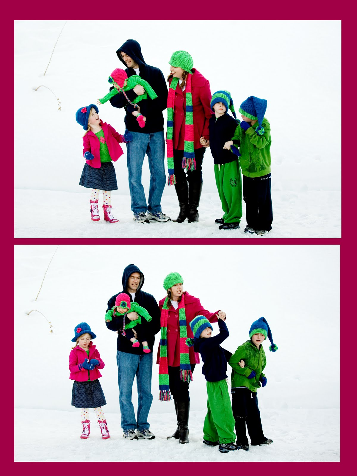 My Family In The Snow