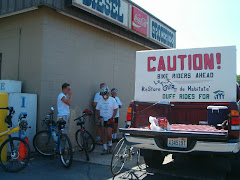 Support Truck for Bikers into Lewiston