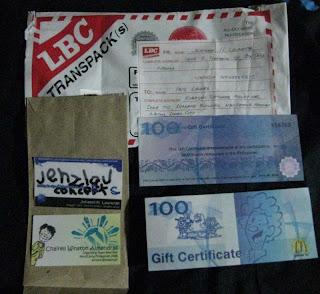 Mc Donald Gift Certificate