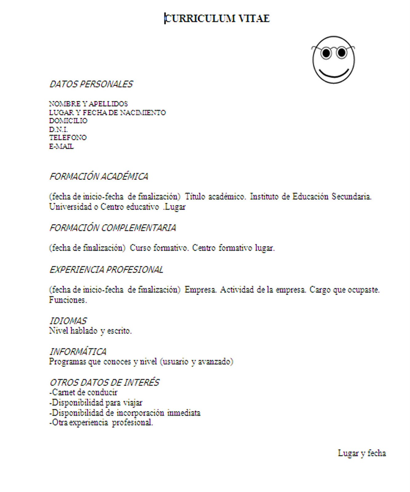 INSERCIÓN LABORAL Y TÉCNICAS DE BÚSQUEDA DE EMPLEO: CURRICULUM VITAE