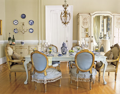 i love this country dining room table and chairs