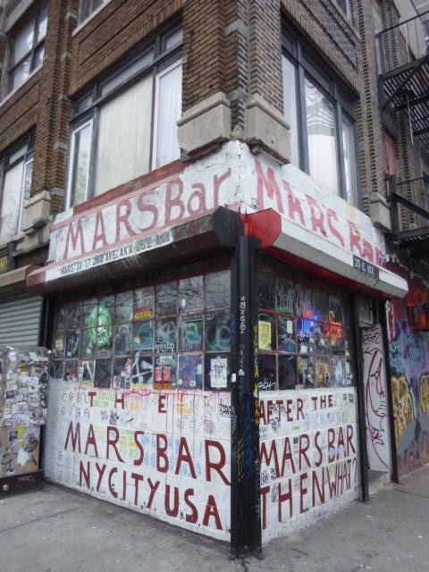 mars bar nyc. A Mars Bar patron currently