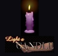 Light a candle for those less fortunate