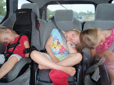 sleeping nude girls. Girls exhausted in the van: