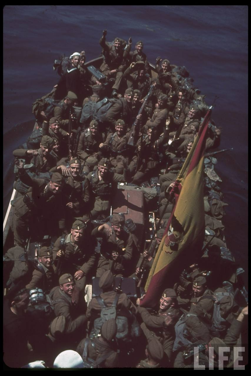 la légion condor et aviation italienne Soldiers+of+Legion+Condor+leaving+Spain,+May+1939b