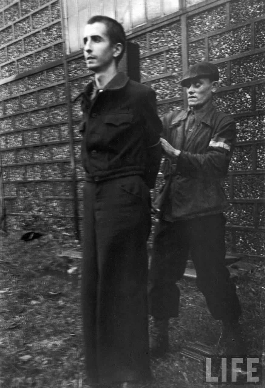 représailles (pendant ou à la fin de la guerre) Execution+of+Nazi+collaborationist+Milice+(Vichy+police)04