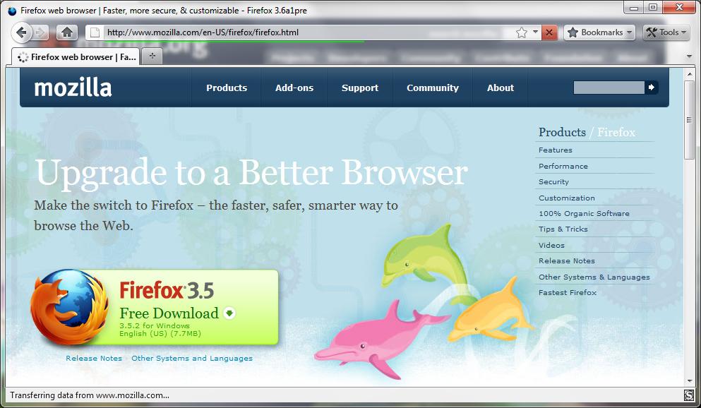 Download Mozilla Firefox Mockup Theme Now