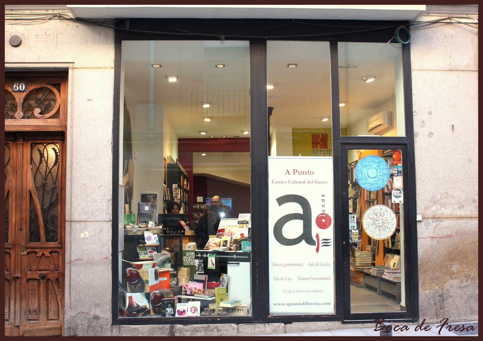 Boca de fresa librer a gastron mica a punto - Libreria gastronomica madrid ...