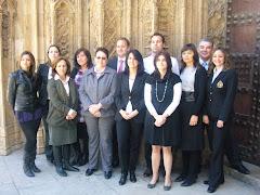 María A. junto a los compañeros de la Comisión Ejecutiva de la Sección de Mediación del ICAV