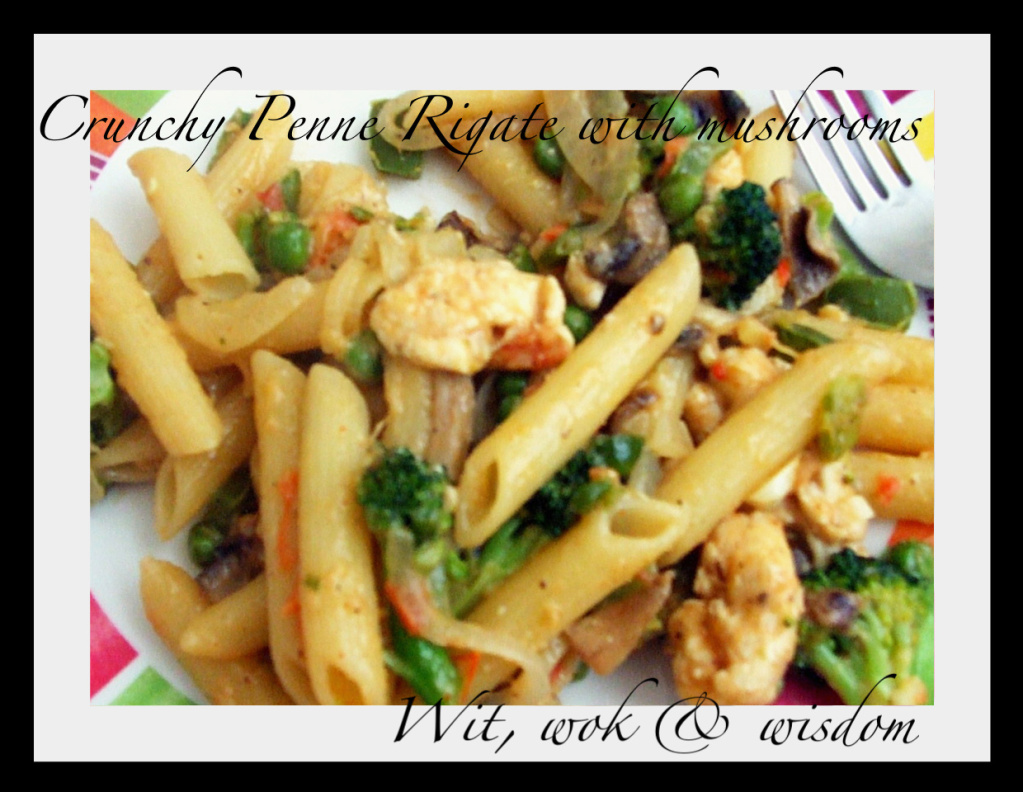 Wit,wok&wisdom: Penne Rigate with Mushrooms a la Nigella