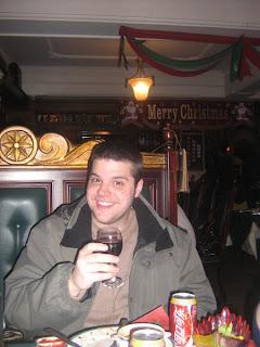 Joe at Christmas dinner
