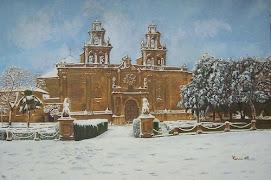PINTURA SOBRE LA IGLESIA DE SAN SANTA MARÍA