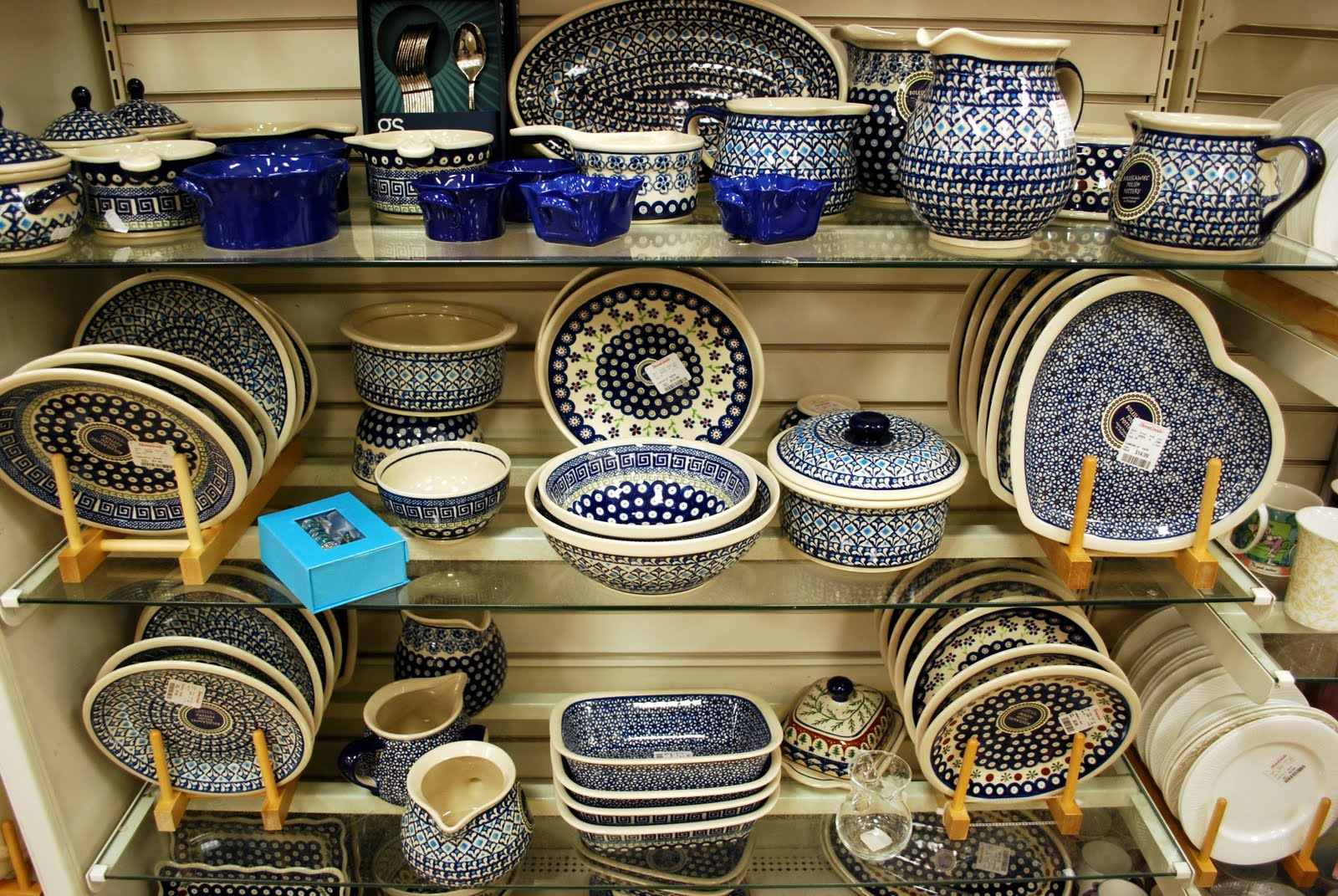 There are also isles and isles of year round goods and decorative  accessories in HomeGoods  such as this wonderful collection of unique folk  pottery made in. Mille Fiori Favoriti  HomeGoods for the Holidays