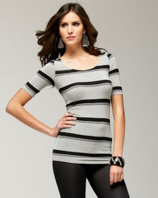 Bow Back Striped Tunic