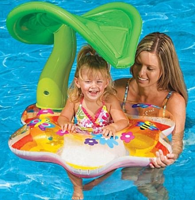 Baby Pool Shade Float-Tropical