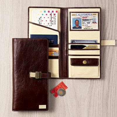 leather excursion travel wallet