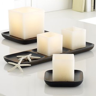 Wood Candle Trays