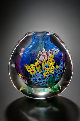 Landscape Art glass Vase