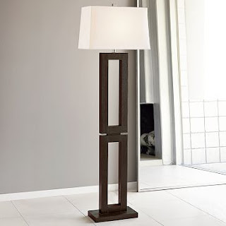 Rectangle Wood Floor Lamp