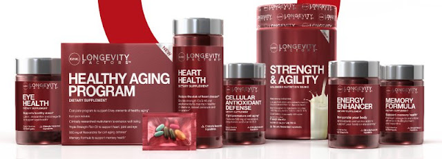 GNC Longevity Factors line of products