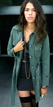Kettle Black Military Trench Coat