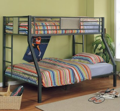 Powell Furniture Twin Over Full Metal Bunk Bed